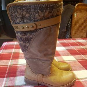 Women's Muk Luks Sherpa Lined Boots Sz 7